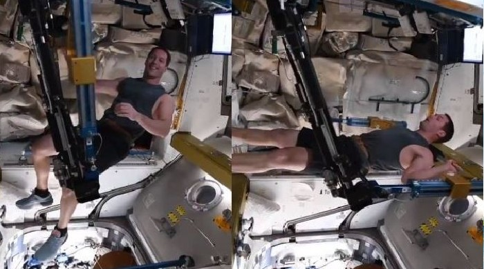 Astronaut's workout from space